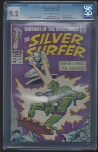 THE SILVER SURFER  #2  (  GRADED BY CGC  NM-  9.2  )  1SR BADOON