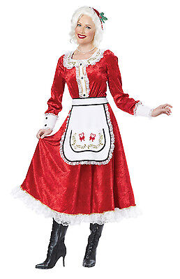 Classic Mrs Santa Claus Christmas Adult Costume - Mrs Santa Claus Costume