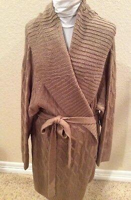 Shawl Collar Wrap Cardigan (NWOT Ava And Viv Women's Tan Shawl Collar Wrap Cardigan Sweater Plus SIze)