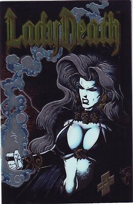 LOT OF 3 COPIES LADY DEATH II: Between Heaven & Hell #1 CHROME COVER (1995)