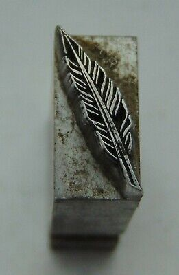 Printing Letterpress Printers Block All Lead Feather