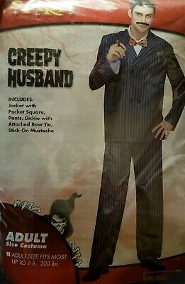 Spirit Halloween - Creepy Husband Costume New in Package Plus Size up to 300 lbs - Spirit Halloween Plus Size Costumes
