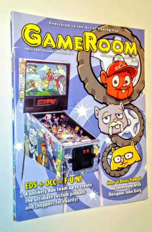 GAMEROOM  APRIL 2007 GUNS N ROSES PINBALL EDSBNE