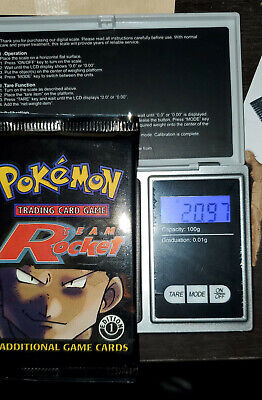 1st Edition Team Rocket Pokemon Booster Pack Sealed 20.97g Heavy