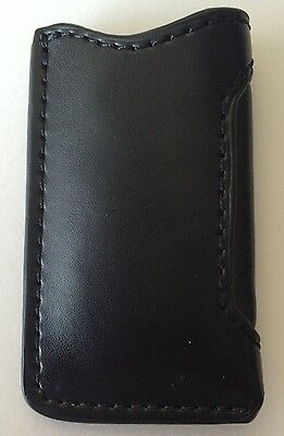 Black Leather Case Pouch For S.T. Dupont Slim 7 Lighter, New In Box