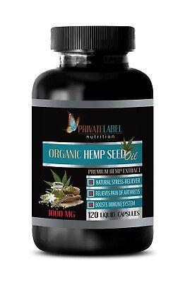 pain relief hemp oil - ORGANIC HEMP OIL 1000mg - hemp oil for anxiety - 120 Soft