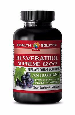 Resveratrol 1000 Resveratrol Supreme 1200 Antioxidant Normal Blood Pressure 1B
