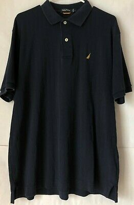 Nautica Mens Classic Fit Short Sleeve Solid Soft Cotton Polo Shirt  Navy Large L