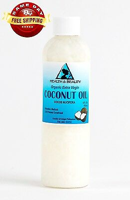COCONUT OIL EXTRA VIRGIN UNREFINED ORGANIC CARRIER COLD PRESSED RAW PURE 4 OZ
