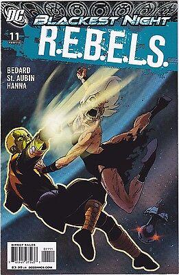 R.E.B.E.L.S. #11 / BLACKEST NIGHT / BEDARD / ST. AUBIN / HANNA / DC COMICS