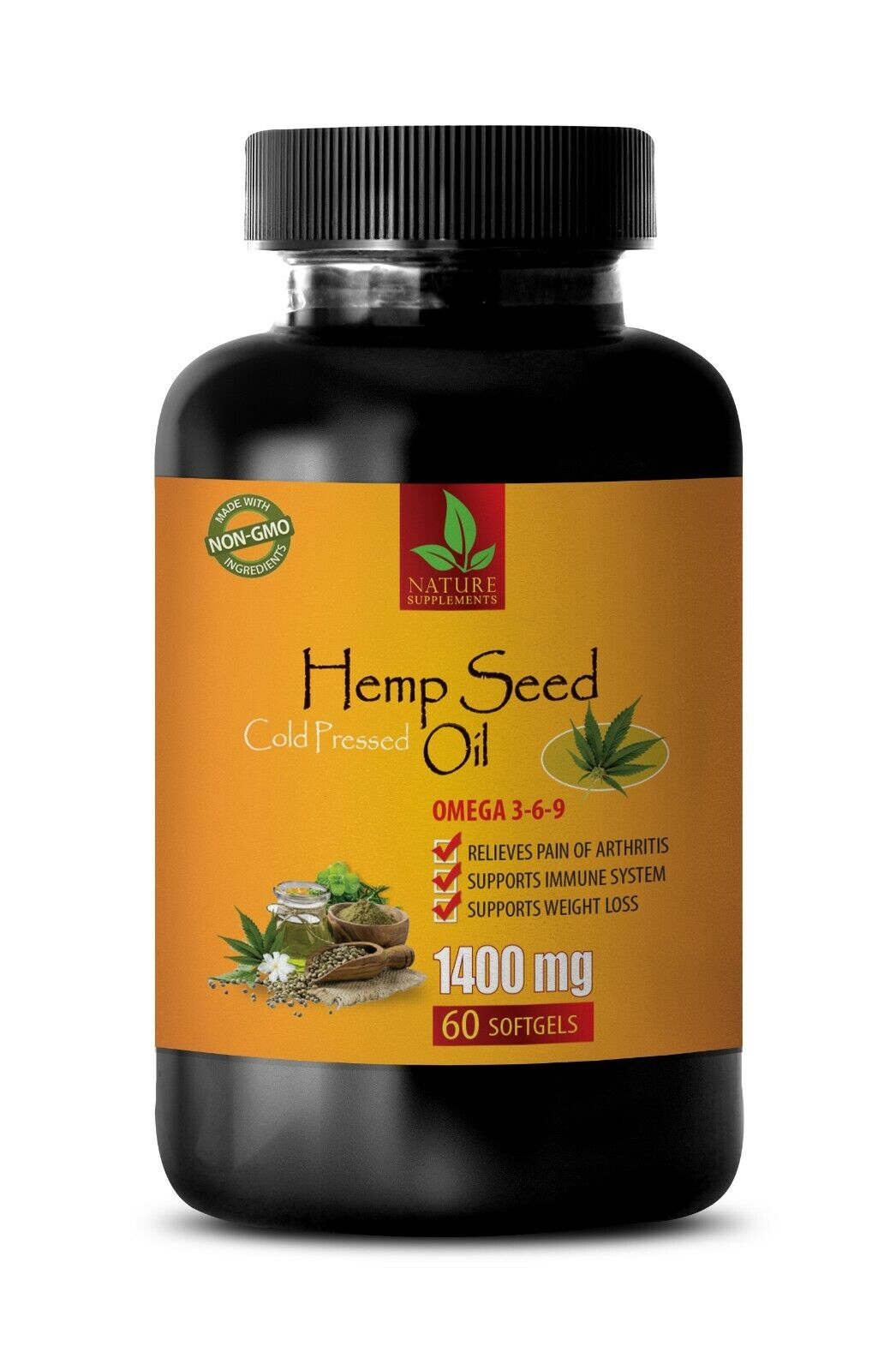 hemp oil capsules - HEMP SEED OIL ORGANIC 1400mg - hemp oil - 60 Softgels