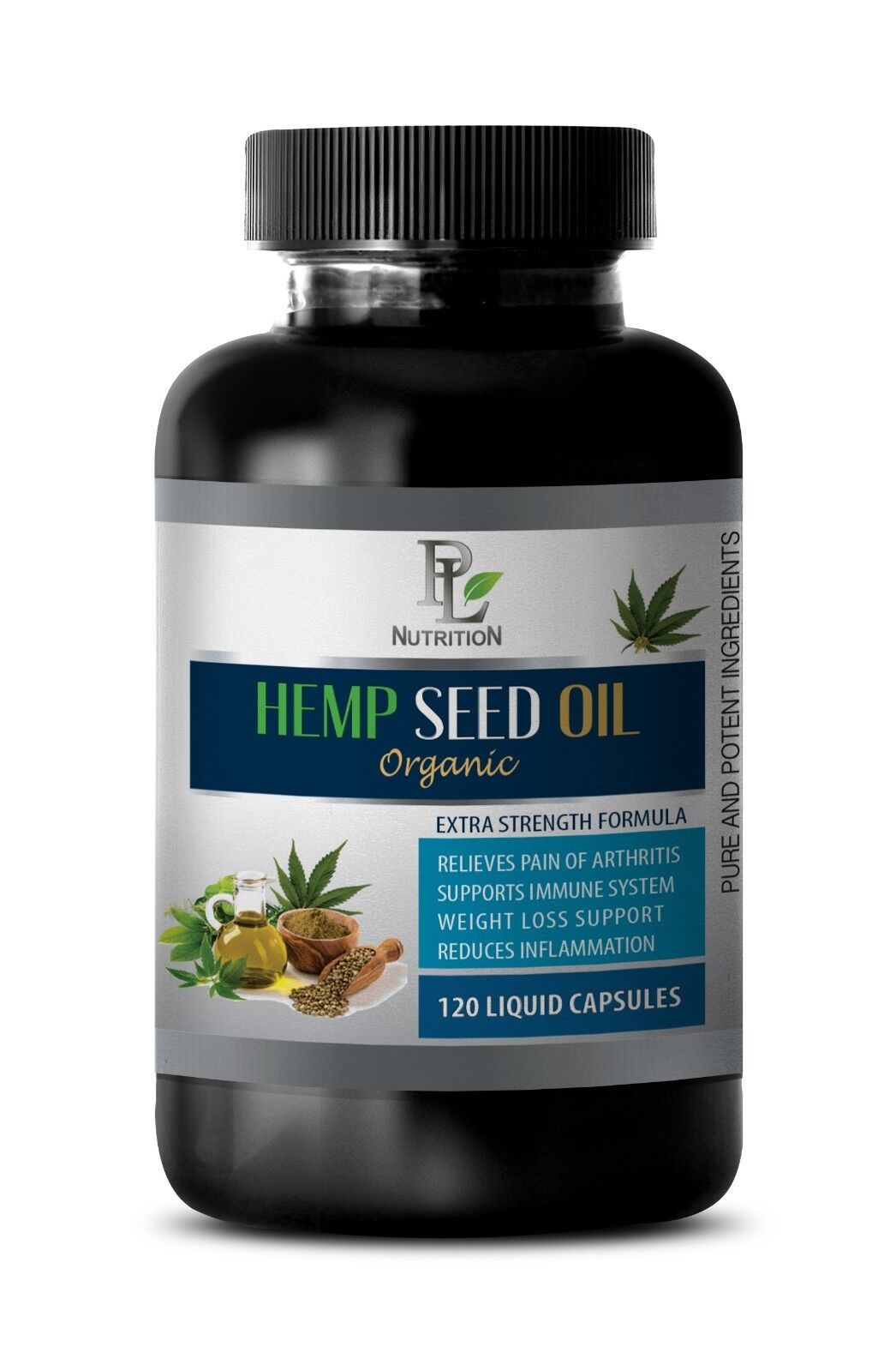 soothe joint inflammation, HEMP SEED OIL ORGANIC 1000mg, hemp plant extract 1B