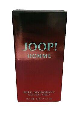 JOOP HOMME 75ML MILD DEODORANT NATURAL SPRAY GENUINE BRAND NEW & BOXED