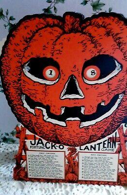 1-BEISTLE HALLOWEEN REPRO VINTAGE 1930-DESIGN JACK-O-LANTERN FORTUNE-WHEEL GAME