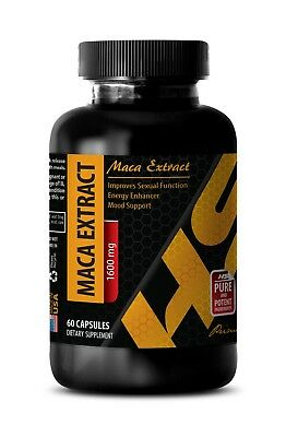 male potency - Pure MACA ROOT EXTRACT 1600mg - maca peruana - 1 Bottle comprar usado  Enviando para Brazil