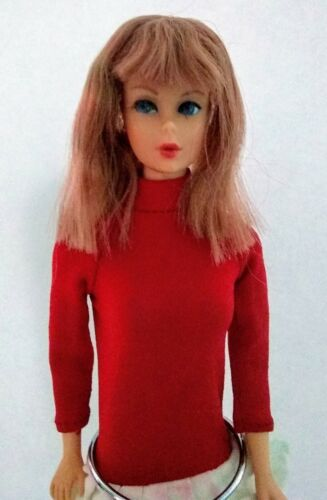 Vintage Mod Standard MIDGE Barbie Doll Titian Red HaIr Rooted Eyelashes 1964  - $99.00