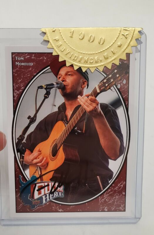 2008 TOM MORELLO UPPER DECK AUTO GUITAR HEROES SIGNED AUTOGRAPHED CARD COA