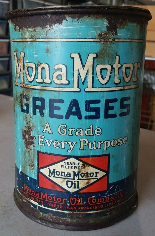 MonaMotor 1 pound grease can.
