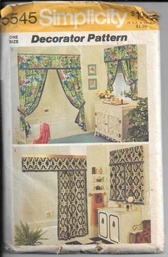SIMPLICITY 5545 Vintage Sewing Pattern, Shower Curtain and Window Curtain