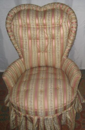 Vintage, High-Back, Heart Shape Chair