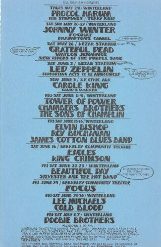 Led Zeppelin, 1973 Kezar Stadium SF Calif. Handlbill/Mailer