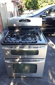 Maytag 5-burner, double oven gas stove