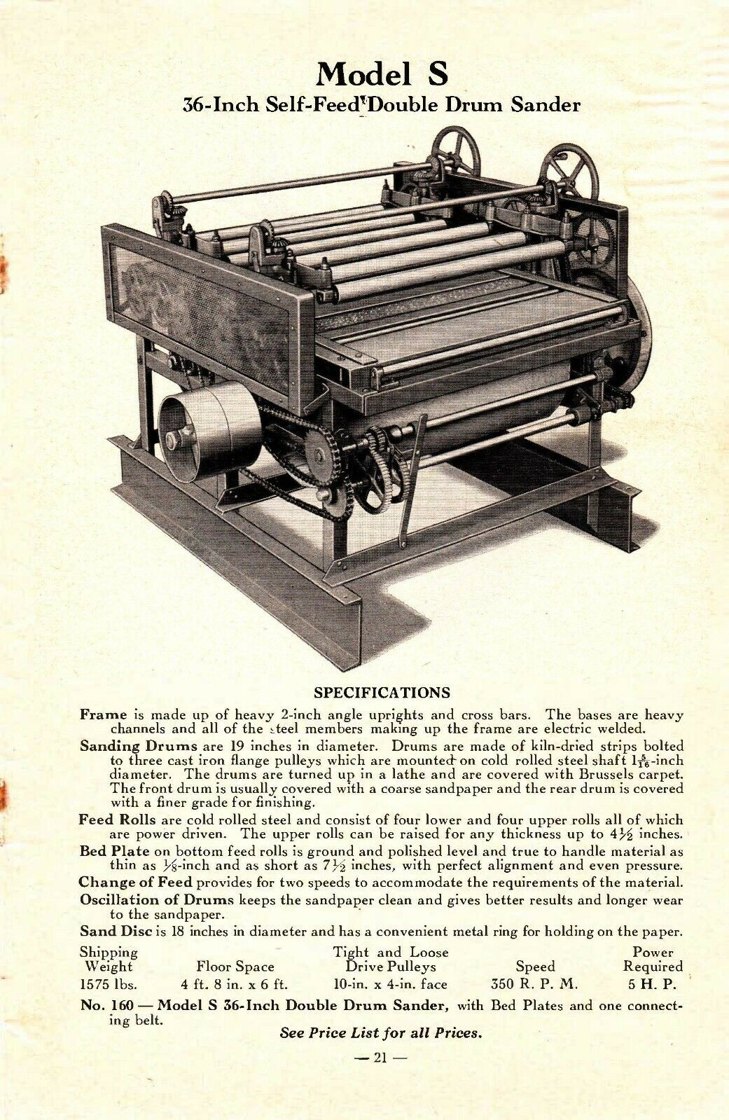 Parks Woodworking Woodworking Machines Price List Catalog No. 42 1942 - $6.97