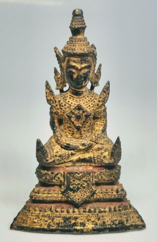 Antique 19th Century Bronze Sitting Meditation Buddha Statue