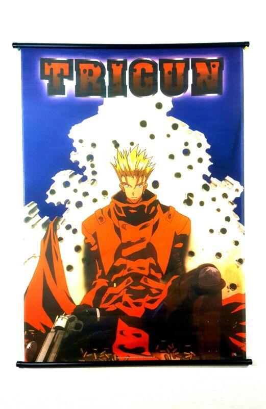 Trigun Manga Japan Anime Rare 1998 Fabric Banner Yasuhiro Nightow 42 x 29 inches