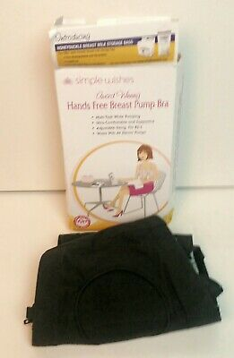Simple Wishes Hands Free Breast Pump Bra Black Xs-L