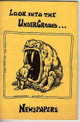 Underground Newspapers Guide 1971 Northwestern University Yellow Dog Cover Comix