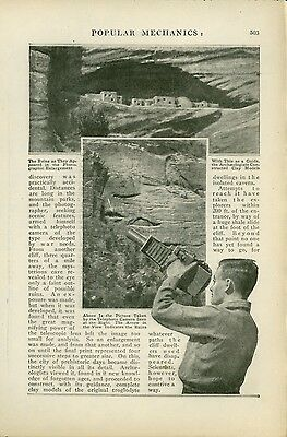 1920 Magazine Article Zion National Park Cliff Dwellings Discovery by Camera