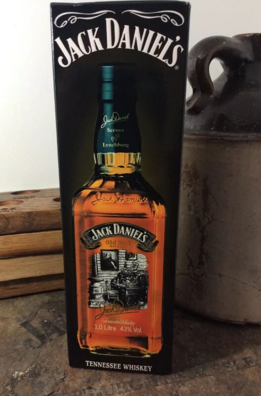Jack Daniels Discontinued Lynchburg Scenes 6 Decanter Gift Box 1L Old Office