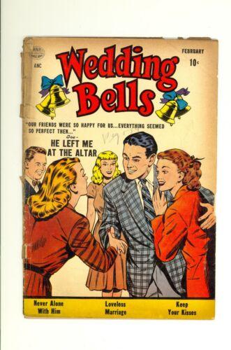 Wedding Bells #1 1.0 (LT/CRM) Fair Love Romance Teen Quality Comics 1954