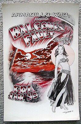 1976 YEATES BALCONES FAULT CHASTITY FOX BEACH AUSTIN ARMADILLO  AUSTIN POSTER