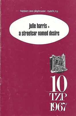 """Julie Harris (Signed) """"A STREETCAR NAMED DESIRE"""" Tennessee Williams '67 Playbill"""