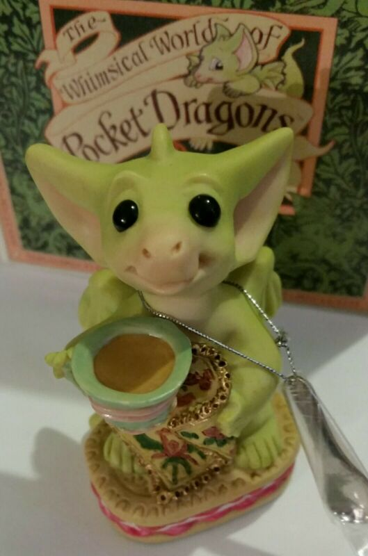 RL 💖 Pocket Dragons Dragon * Mint * ☕Time For Tea☕ * Joining Piece * 2001/02 *