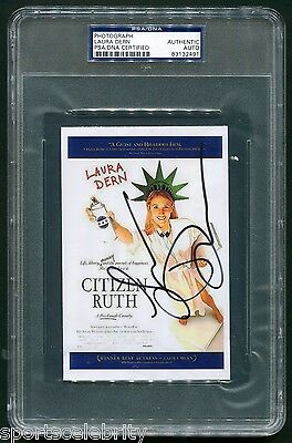 Laura Dern Signed Citizen Ruth 4 X6  Photo Movie Poster Ruth Stoops Psa Dna