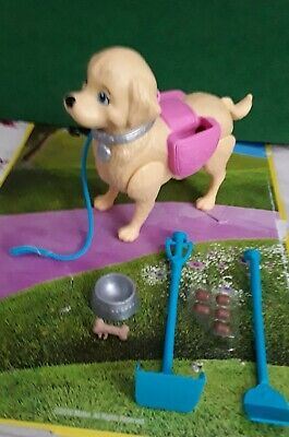 NEW Walk and Potty Pup for Barbie Mattel DOG and 9 Accessories Just deboxed 2016