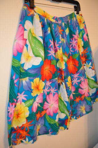 1084175f64 Colorful Tropical Floral Beach Camp High Bermuda Sz 10 Hawaiian ...