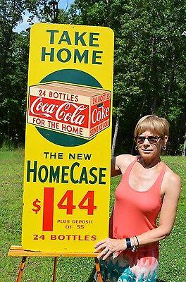 VINTAGE 40's COCA COLA SODA DRINK $1.44 TAKE HOME A CASE 24 BOTTLE SIGN SCARCE!