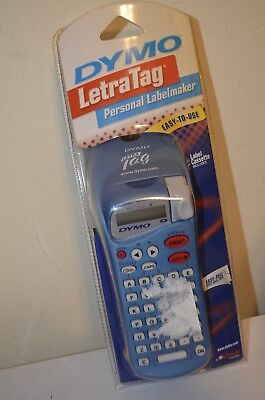 Dymo Letratag Blue Personal Label Maker White 12 Labeling Cassette Brand New