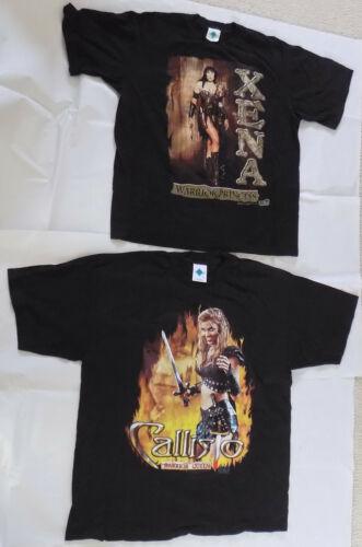 Xena Warrior Princess + Callisto Queen XL T-Shirts 1997
