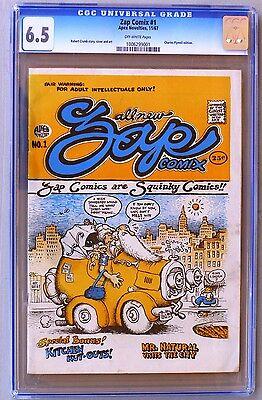 ZAP Comix #1, 1967, 1st Ed, Apex  - CGC Grade 6.5
