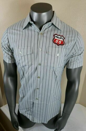 Vintage Gas Station Phillips 66 Shirt Service Attendant Unitog 60s 70s SS