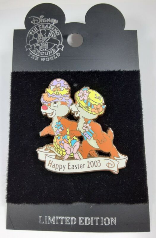 Disney Cast Member Pin Chip And Dale Happy Easter 2003 Parade Bonnets LE 1500