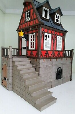 Playmobil Medieval Red Old Style Castle House - Knight/Victorian /Farm