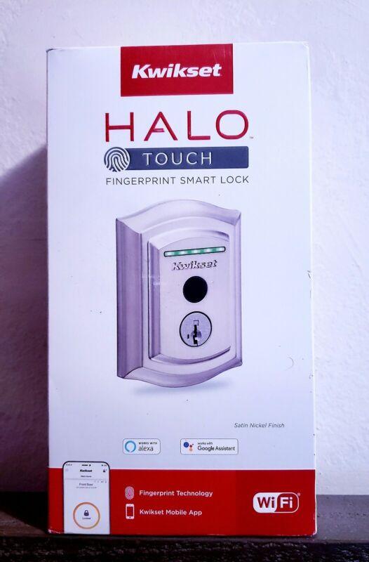 Kwikset Halo Touch Traditional Wi-Fi Fingerprint Smart Lock SATIN NICKEL NEW