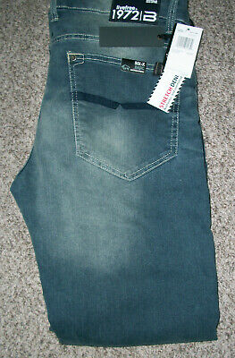 - BUFFALO DAVID BITTON Six X Slim Stretch Aged & Torn  Denim Jeans NWT 36x32 $109