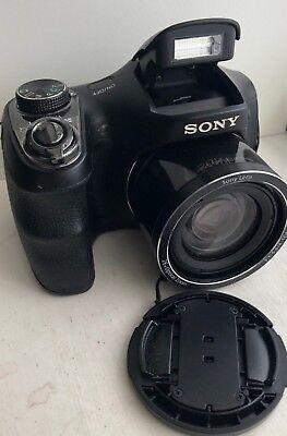 Sony Cyber-shot DSC-H200 20.1MP Digital Camera - Black 26in Optical Zoom - Good